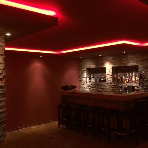 RGBW led strip in de woonkamer